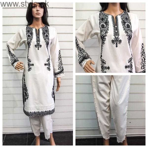 See Pakistani White Dresses for Eid 2016