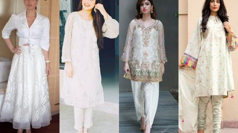 Pakistani White Dresses For Eid 2016