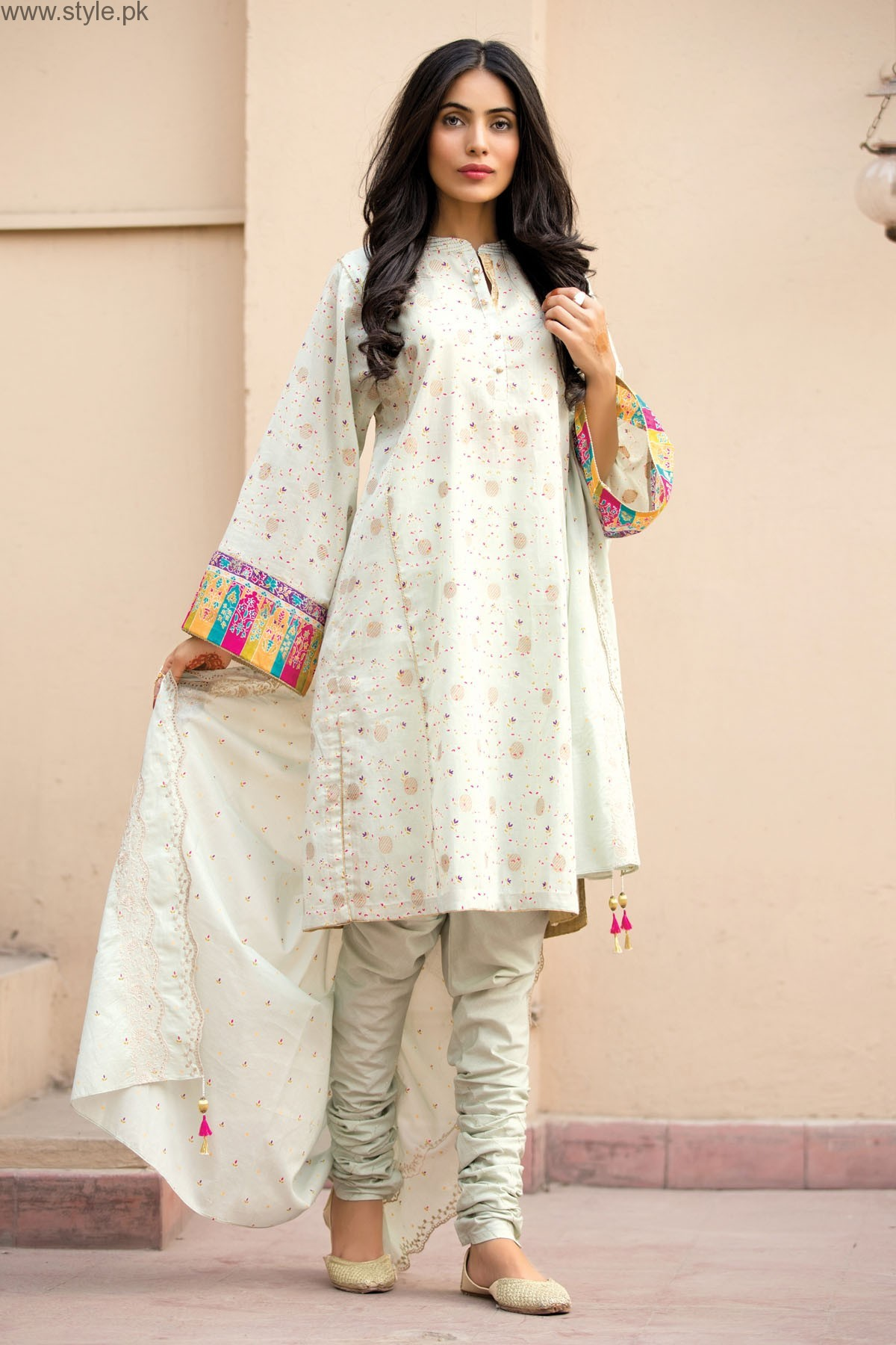c42269b6590 Pakistani White Dresses for Eid 2016 (7)