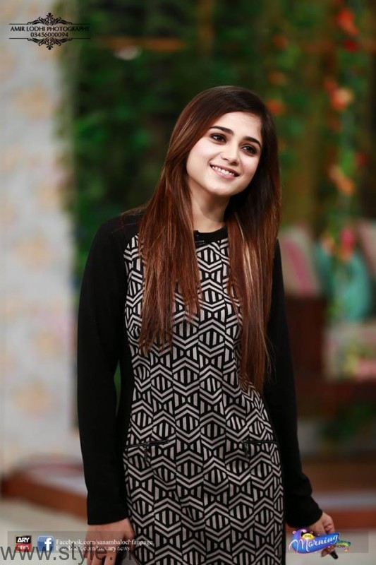 Aima Baig For Promotions Of Lahore Se Aagey in Sanam Baloch's Morning Show