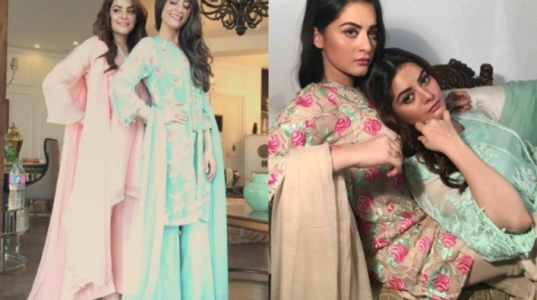 See Aiman Khan and Minal Khan's photoshoot for Agha Noor