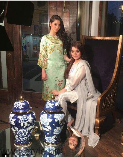 Aiman Khan and Minal Khan's photoshoot for Agha Noor (12)
