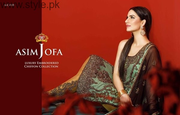 Asim Jofa Chiffon Dresses 2016 For Women0012
