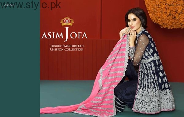 Asim Jofa Chiffon Dresses 2016 For Women003