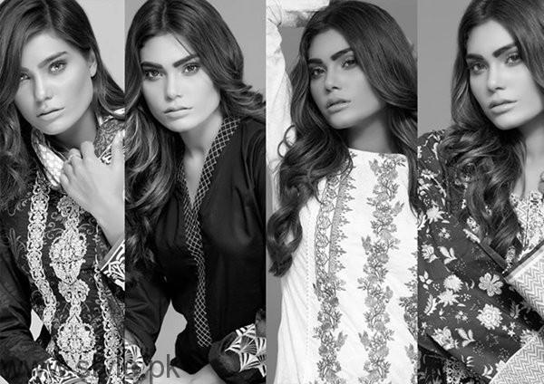 Bonanza Garments Black And White Dresses 2016 For Women001