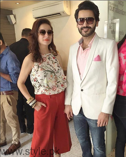 Fahad and Sarwat Gilani at Brunch Fashion Pakistan Week