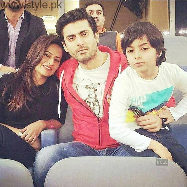 Fawad Khan Wife and Son