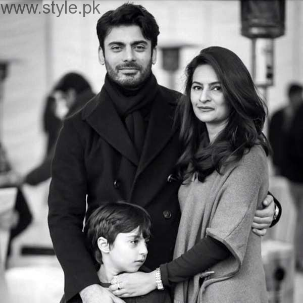 Fawad Khan With Wife and Son