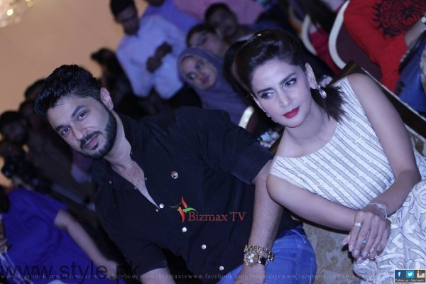Hasan Rizvi and Sabar Qamar Zaman at Music Launch Of Lahore Se Aagey