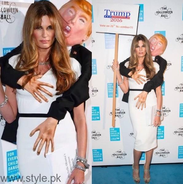 Jemima Khan Halloween Costume Trump