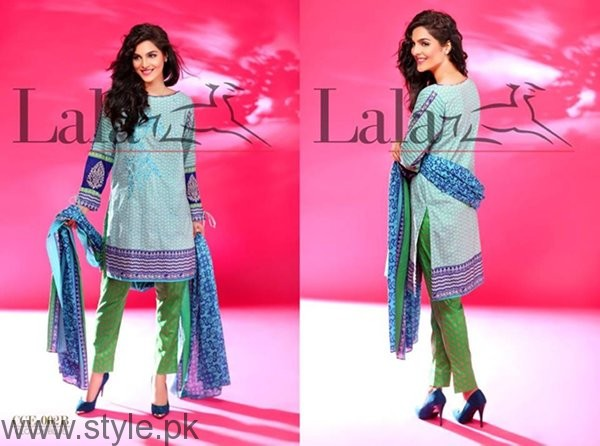 Lala Textiles Cotton Embroidered Dresses 2016 For Women0012
