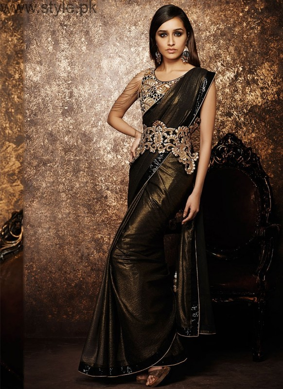 Latest Black Sarees 2016 (11)