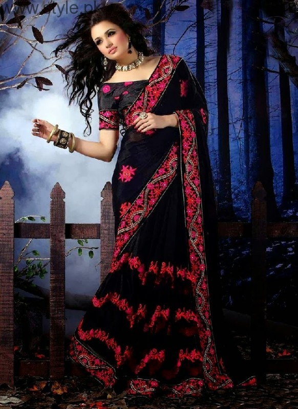 Latest Black Sarees 2016 (2)