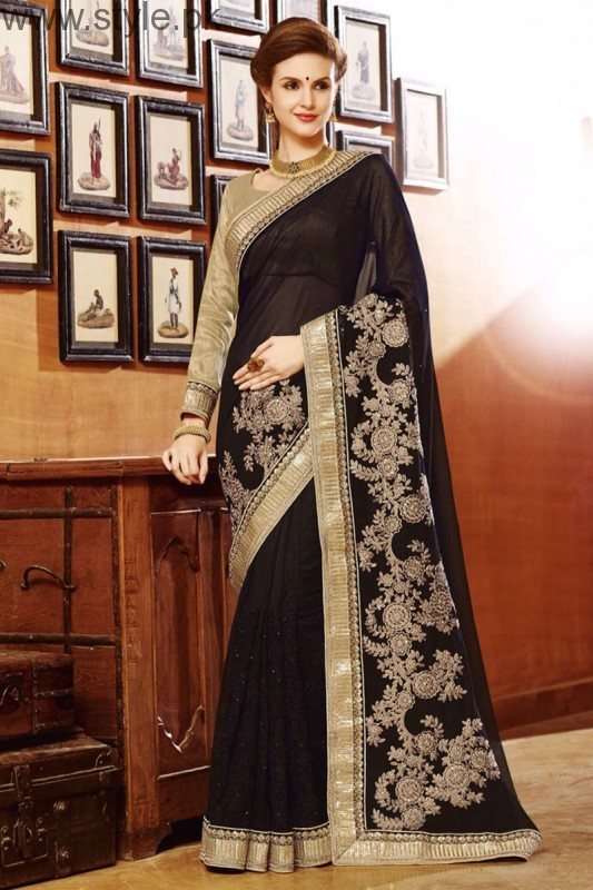 Latest Black Sarees 2016 (3)