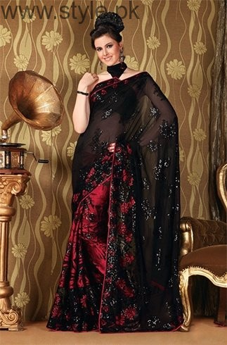 Latest Black Sarees 2016 (4)