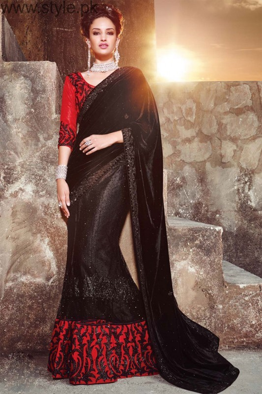 Latest Black Sarees 2016 (5)