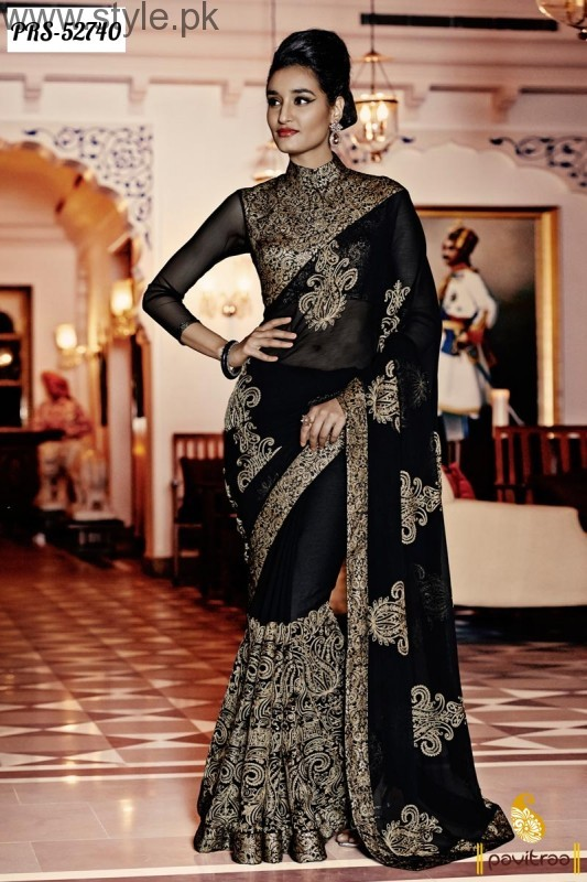 Latest Black Sarees 2016 (6)
