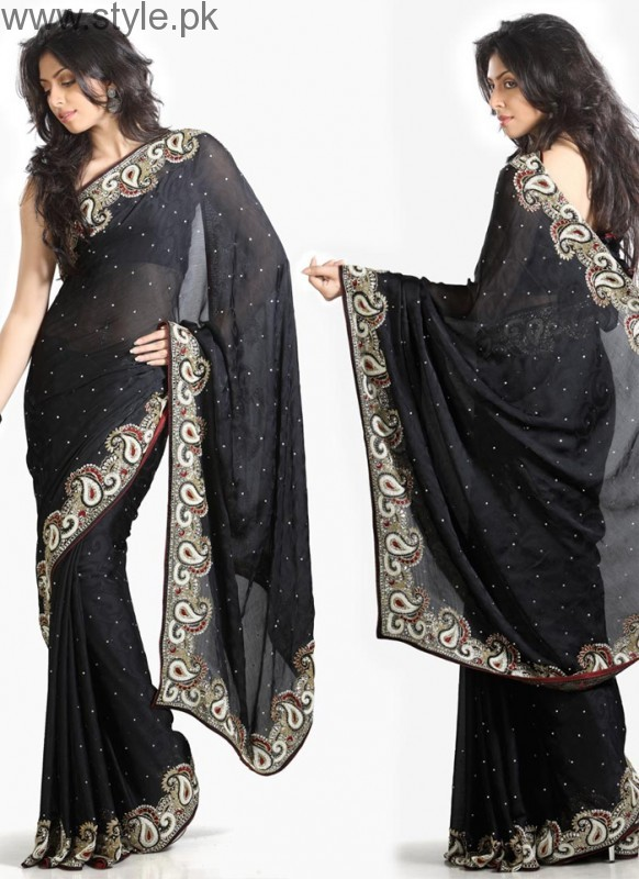 Latest Black Sarees 2016 (7)
