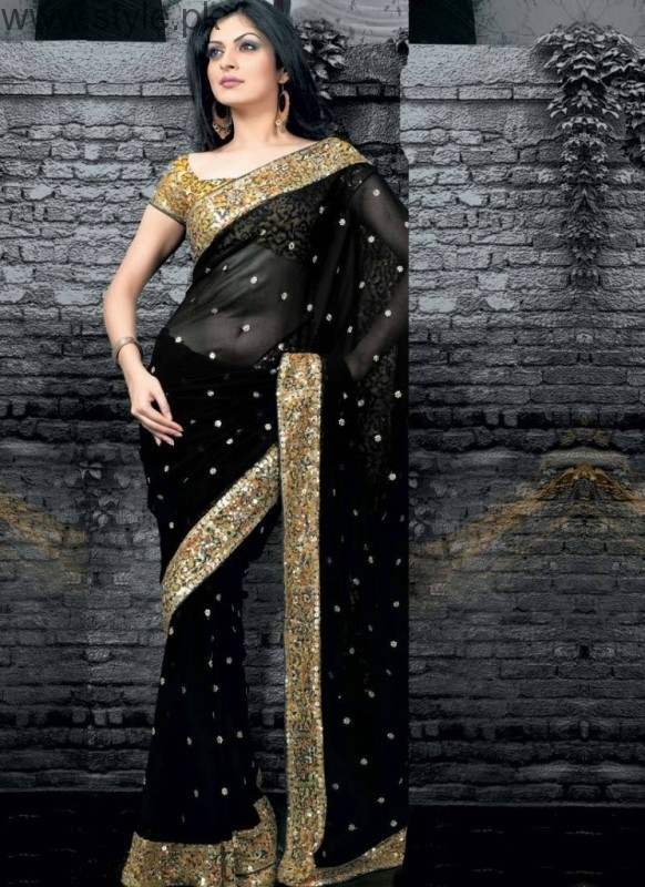 Latest Black Sarees 2016 (8)