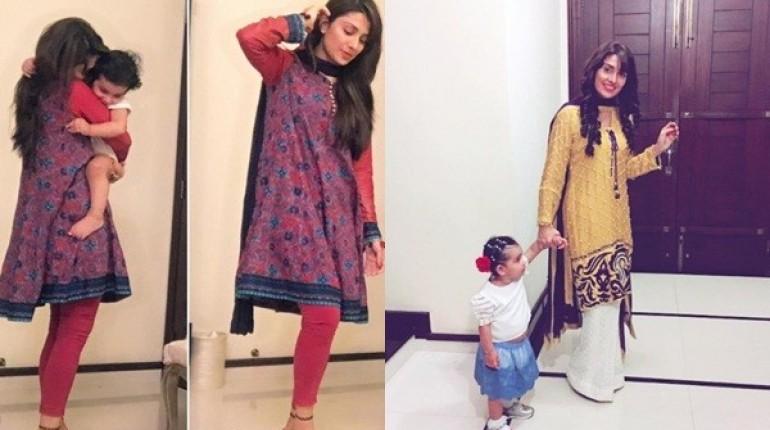 See Latest Clicks of Ayeza Khan with her daughter HoorainLatest Clicks of Ayeza Khan with her daughter Hoorain