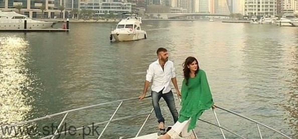 Mahnoor Baloch on the set of her upcoming drama 'Khoobsurat' (2)