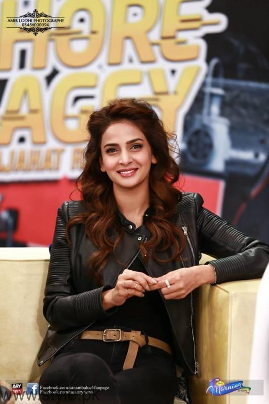 Saba Qamar Guest in Sanam Baloch Show