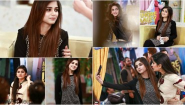 Saba Qamar and Aima Baig in Sanam Baloch Show