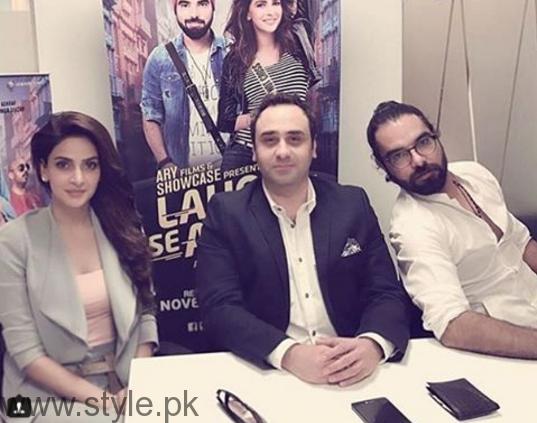 Saba Qamar during promotion of Lahore Se Agay (7)