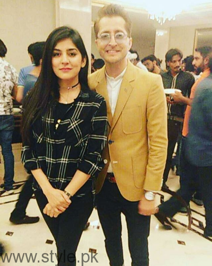 Sanam Baloch with Husband at Music Launch Of Lahore Se Aagey