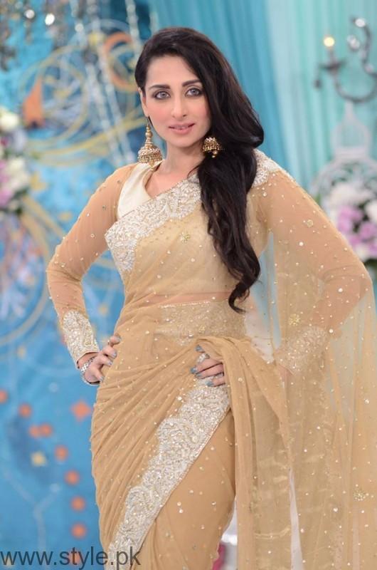 Saree in Good Morning Pakistan Show