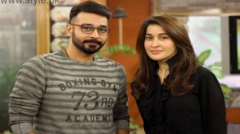 See Shaista Lodhi and Faisal Qureshi are sharing screen for Khawab Nagar