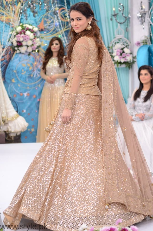 Trendy Bridal Formal Dresses At Nida Yasirs Morning Show