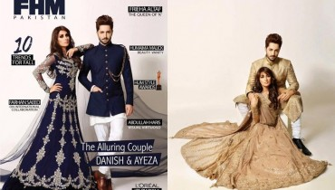 Ayeza Khan And Danish Taimoor Photoshoot for FHM Pakistan