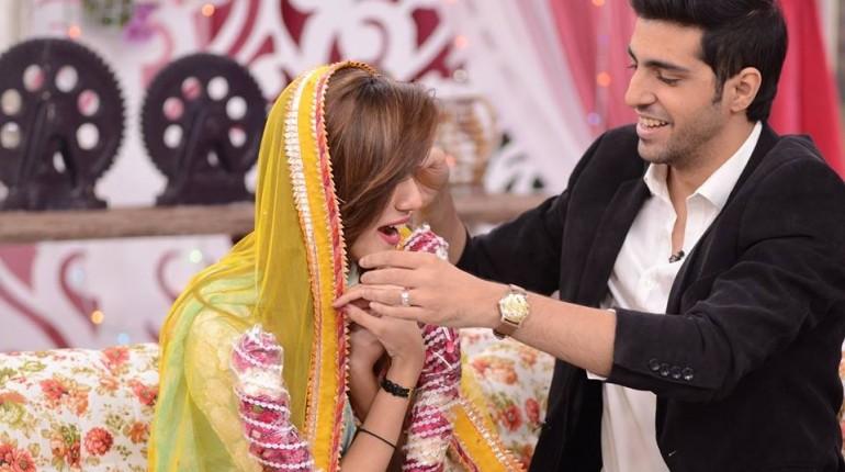 Furqan Qureshi With His Wife Sabrina In Good Morning Pakistan