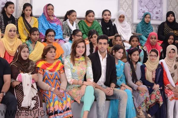Furqan Qureshi with his Wife Sabrina in Good Morning Pakistan (13)