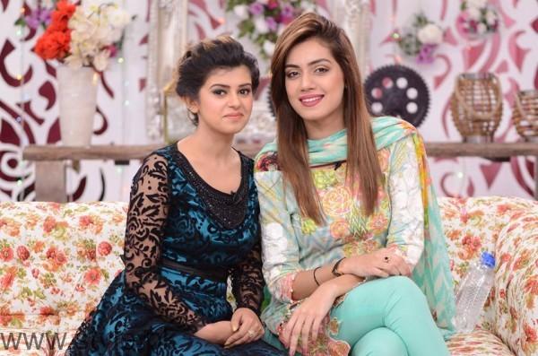 Furqan Qureshi with his Wife Sabrina in Good Morning Pakistan (8)