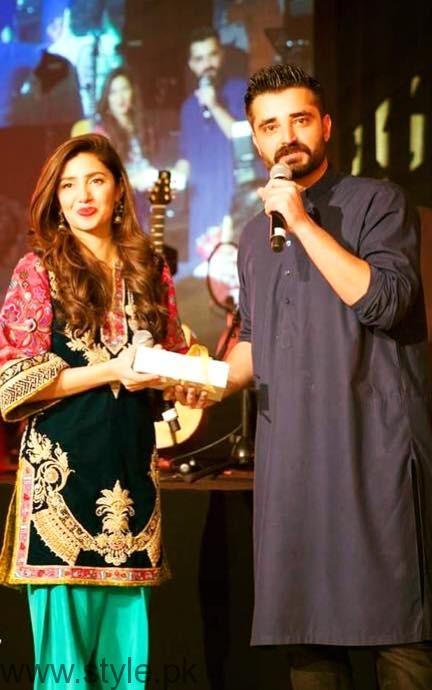 Hamza Ali Abbasi and Mahira Khan in Dubai for SKMCH