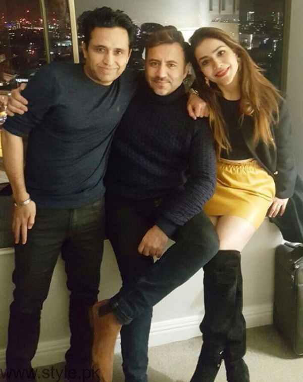 Humaima Malik With Asim Jofa In London
