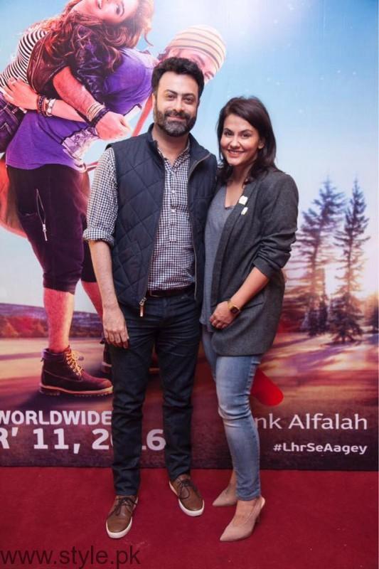 Kamiar Rokni and Sanam Taseer at Lahore Se Aagey premiere