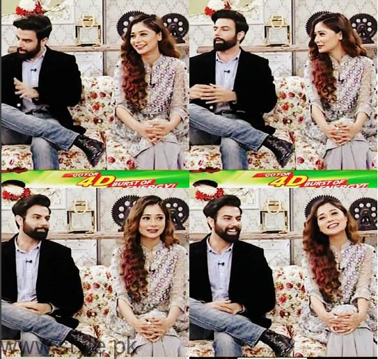 Noor Hassan and Indian Actress Sara Khan in Good Morning Pakistan (1)