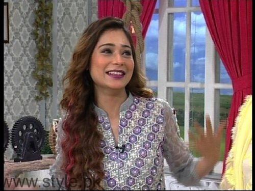 Noor Hassan and Indian Actress Sara Khan in Good Morning Pakistan (2)