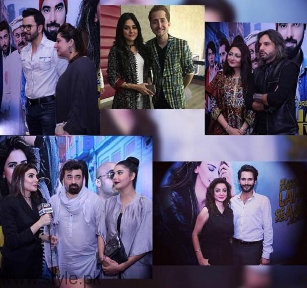 Pakistani Celebrities At Lahore Se Aagey Premiere In Karachi 01