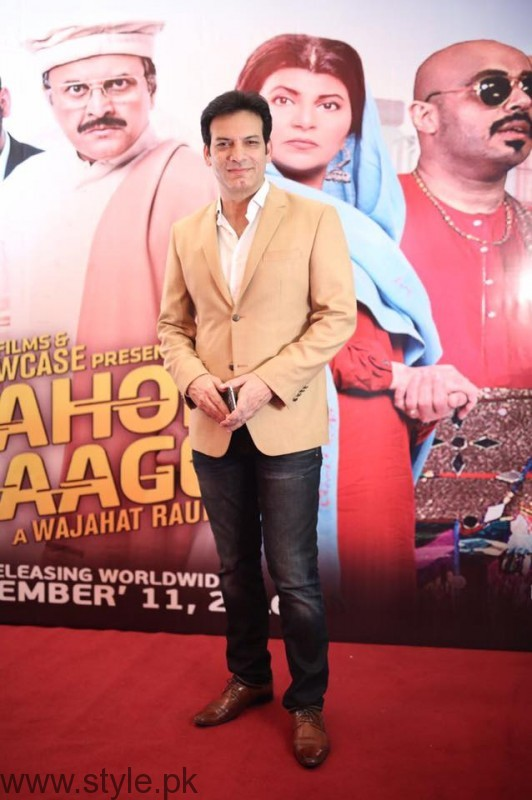 Saleem Sheikh at Lahore Se Aagey premiere