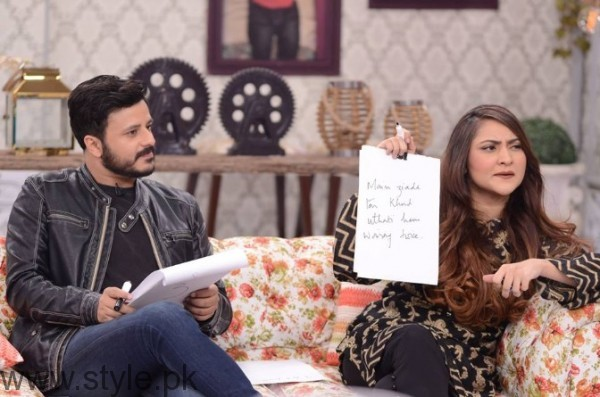 Sana Askari with her Husband and son in Good Morning Pakistan (4)
