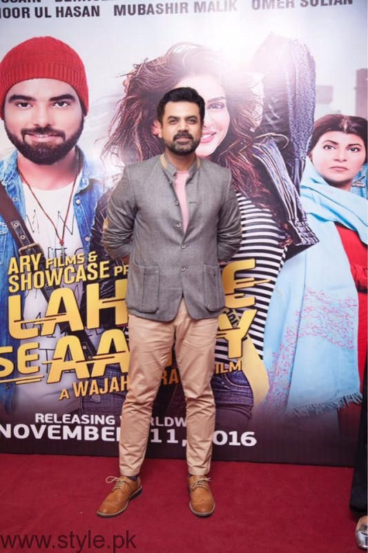 Vasay Chaudhry at Lahore Se Aagey premiere