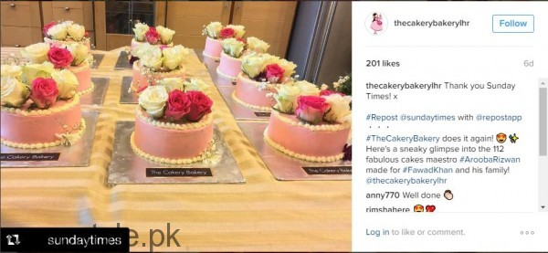 fawad khan 112 cakes