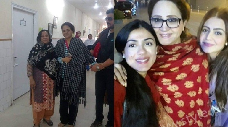 See Actress Asma Abbas is discharged from Hospital after one month
