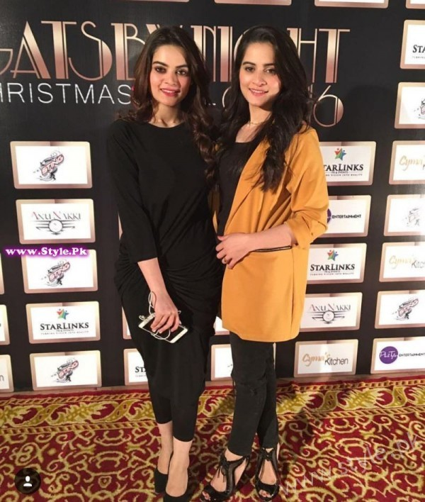 Aiman Khan and Minal Khan at Gatsby Night