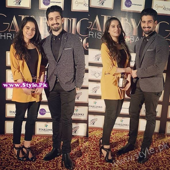 Aiman Khan and Muneeb Butt at Gatsby Night Christmas Ball