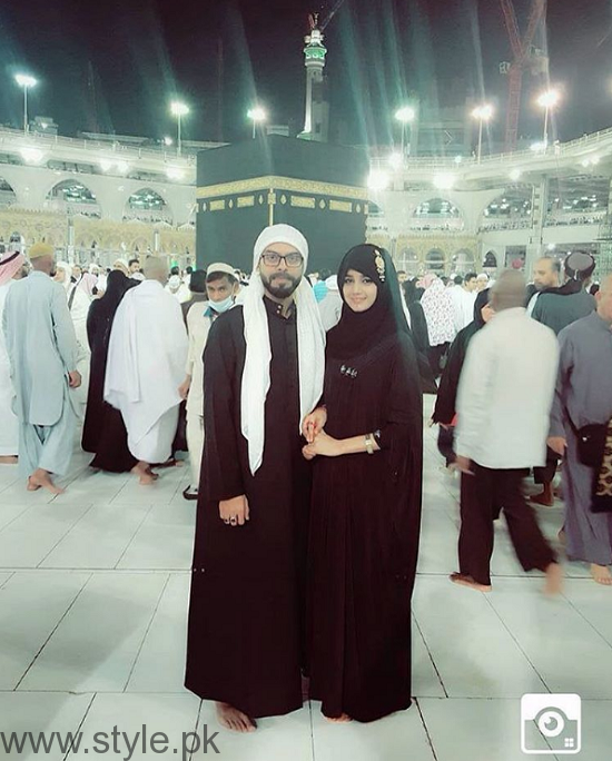 Anum Fayaz Performing Umrah With Husband